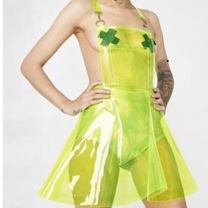 Go Gurl Green Overall Dress